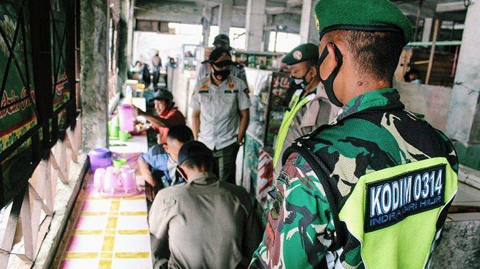 Satgas Covid-19 Inhil Rutin Gelar Patroli Penegakan Disiplin, Masuk Pasar Pantau Persimpangan Jalan