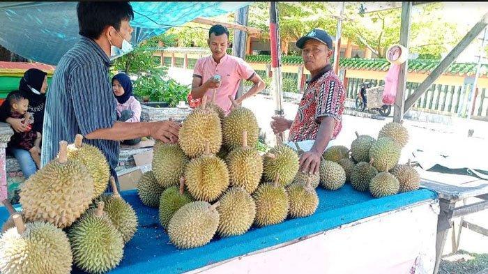 Musim Durian di Pulau Bengkalis, Dalam Satu Hari Pedagang di Pinggir Jalan Bisa Jual 200 Buah