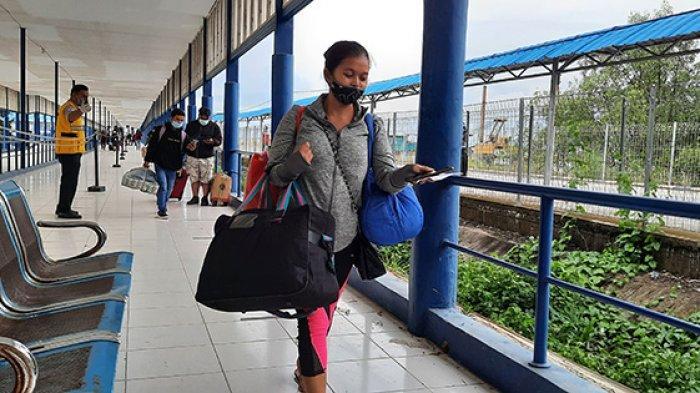 Arus Kedatangan Naik di Pelabuhan BSJ Dumai,Penumpang Duluan Pulang Kampung Sebelum Larangan Mudik