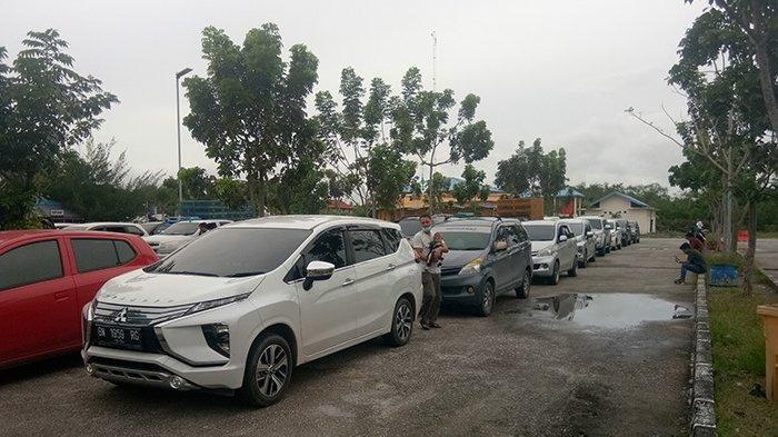 Antrean Padat, Pelabuhan Penyeberangan RoRo Ramai di Awal 2021,Didominasi Kendaraan Keluar Bengkalis