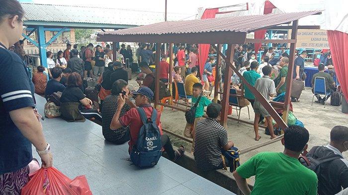 Ponton Pelabuhan Meranti Riau Retak, Puncak Arus Balik Imlek dari Selatpanjang Capai 3.600 Penumpang
