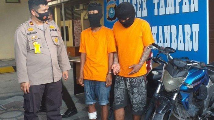 Pelaku Curanmor di Tampan Pekanbaru Coba Serang Polisi Pakai Pisau, Seorang Diantaranya Ditembak