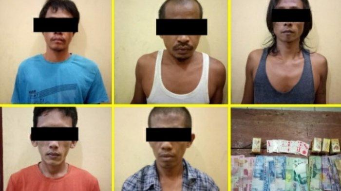 Polsek Tambusai Utara Amankan 5 Pelaku Judi di Desa Mahato
