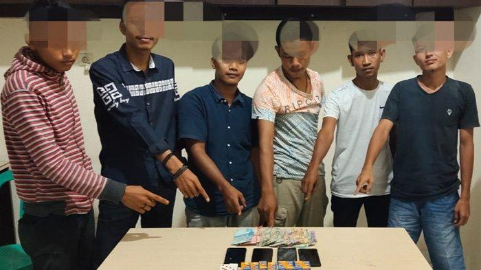 Sedang Asyik Kocok Domino, Enam Pelaku yang Main Qiu-qiu di Tapung Hulu Diciduk Aparat