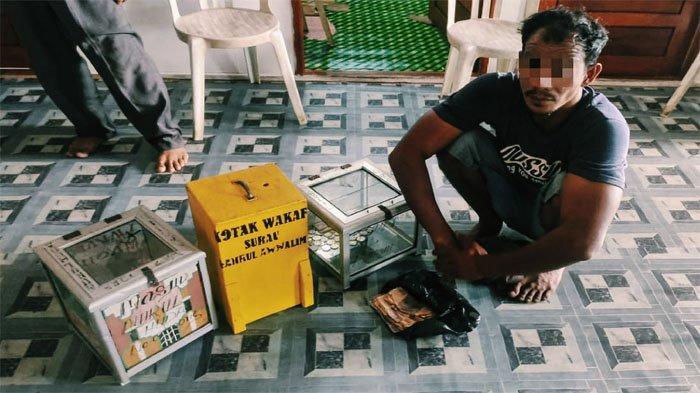 Pria Ini Memang Udah Niat, 4 Kotak Infak Milik Masjid dan Panti Asuhan Digondol Sekaligus