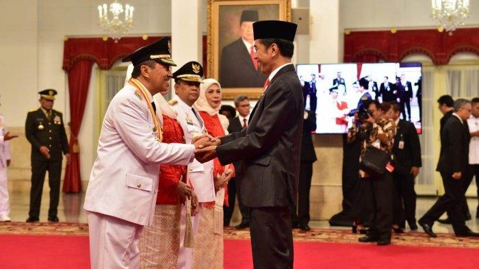 Presiden Joko Widodo Lantik Syamsuar-Edy Natar Sebagai Gubernur dan Wakil Gubernur Riau