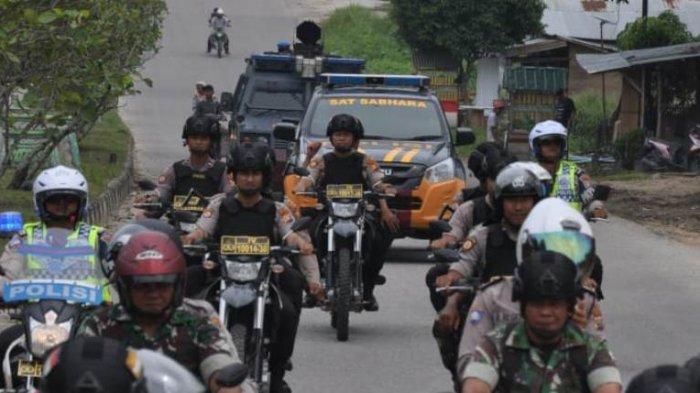 Pelantikan Presiden, 225 Personel TNI-Polri Pelalawan Riau Amankan Objek Vital Hingga Rumah Ibadah