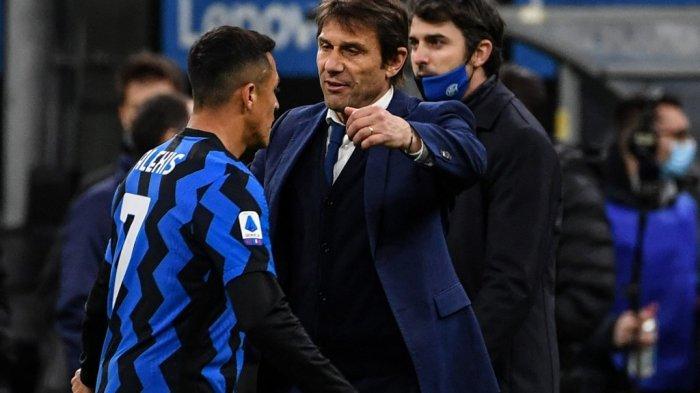 Antonio Conte Coba Samai Rekor Mancini Tangani Inter Milan di Liga Italia