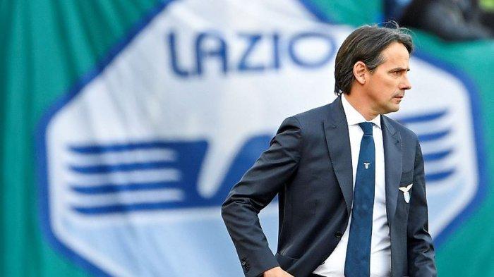 Simone Inzaghi saat melatih Lazio