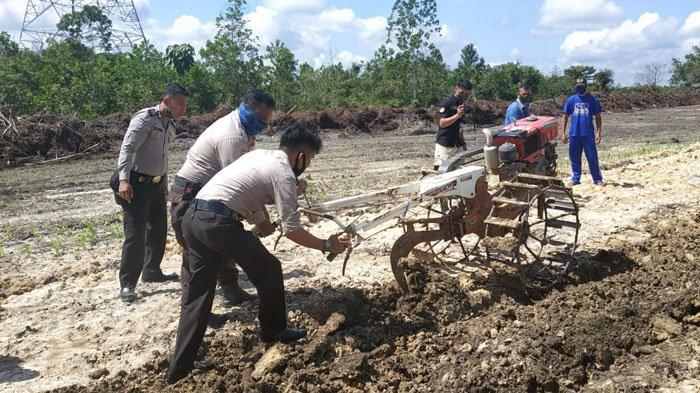Polres Kampar Gelar Pelatihan Ketahanan Pangan Menghadapi Pandemi Covid-19 ke Bhabintamtibmas
