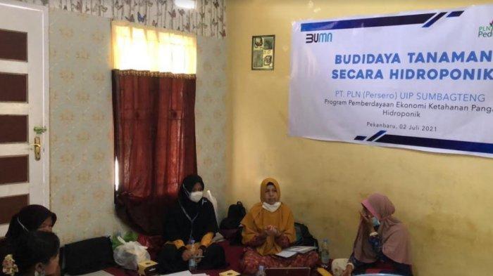 Pelatihan Program Hidroponik kerjasama PLN UIP SUMBAGTENG dengan HI Riau