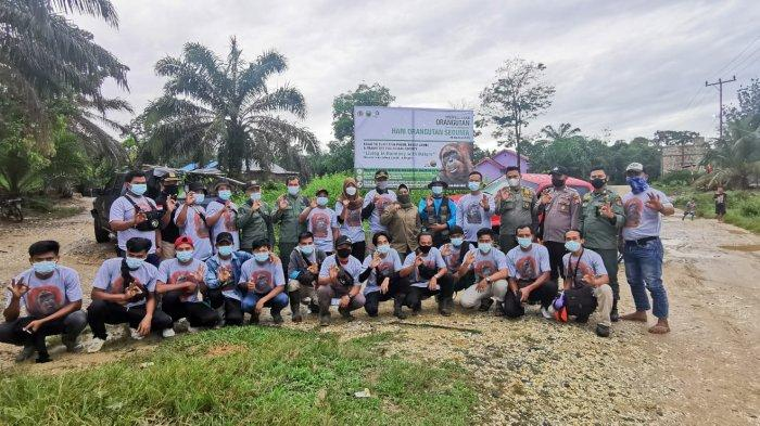 5 Jam Pikul Kandang Isi Orangutan Seberat 120 Kg, Jalan Kaki 3 Jam Demi Pelepasliaran Sun Ghou Kong