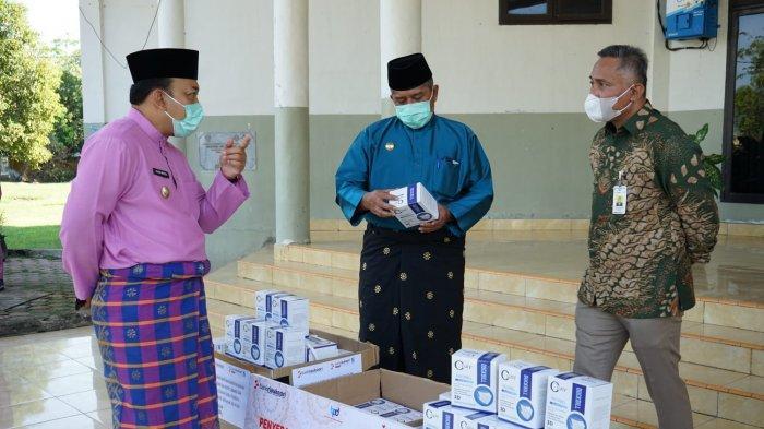Pemkab Siak Terima Bantuaan Masker Senilai Rp 9 Juta dari Bank Riau Kepri
