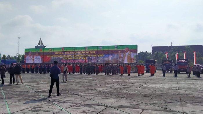Pemprov Riau Gelar Apel Kesiapsiagaan Penanganan Karhutla di Riau, Ini Kata Gubernur Riau Syamsuar
