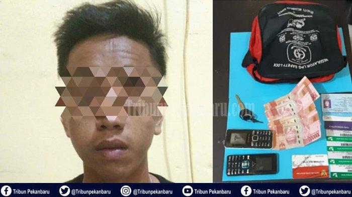 Pemuda di Riau Ini Dapat Karma Setelah Menjambret Penjual Jamu Saat Korban Dorong Sepeda Dayung
