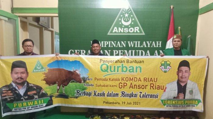 Berbagi Kasih dalam Bingkai Toleransi, Pemuda Katolik Riau Berkurban Satu Ekor Sapi