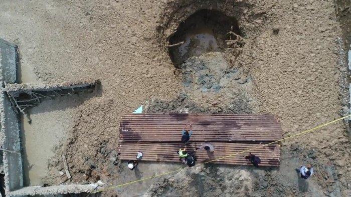 Lubang Semburan Gas di Ponpes Al Ihsan Pekanbaru Sudah Bisa Ditutup, Frekuensi Semburan Sudah Nol