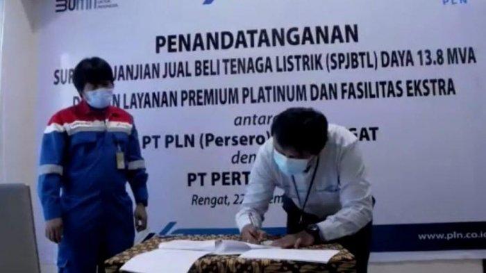 Sinergi BUMN, PLN UIWRKR Pasok Listrik Layanan Premium Platinum Ekstra ke Pertamina EP Lirik Field