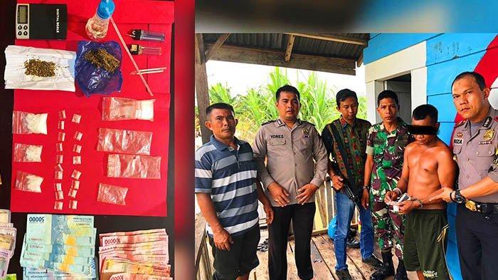 Anggota Polsek dan Babinsa Bonai Darussalam Tangkap Pengedar Narkoba