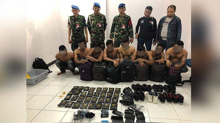 8 Kurir Sabu Asal Aceh sempat Lolos Dua Kali di Bandara Pekanbaru, Dapat Upah Rp 7 Juta per Orang