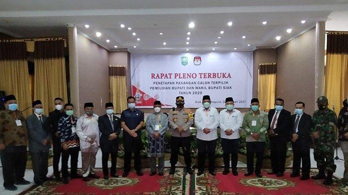 Jumat Berkah Bagi Alfedri-Husni, KPU Siak Tetapkan Pemenang Pilkada Siak 2020