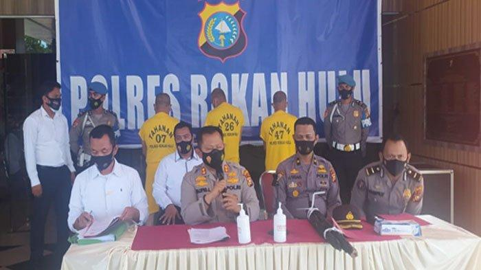 Polres Rohul Tetapkan Tiga Orang Sebagai Tersangka Karhutla di Bukit Suligi