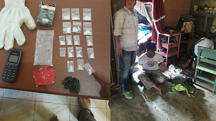 Polisi Cokok Pengedar Narkoba di Langgam Bersama 16 Paket Sabu-sabu