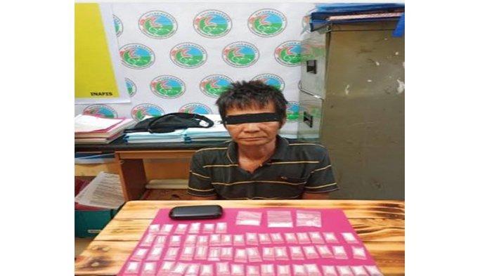 Seorang Pengedar Narkoba di Sorek Diringkus, Satres Narkoba Polres Pelalawan Sita 58 Paket Sabu-sabu