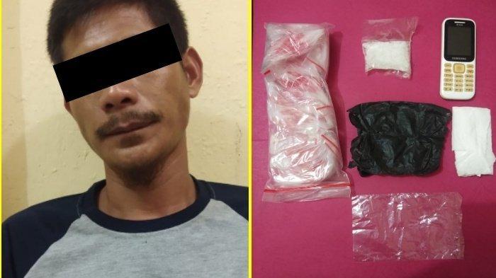 Bungkus Sabu Pakai Plastik Hitam, Satres Narkoba Polres Rohul Ciduk Pengedar Narkoba