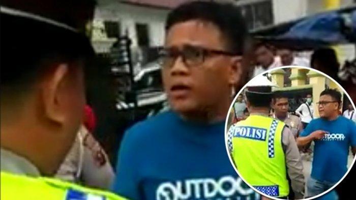 Viral Video Pengendara Cekcok dengan Polantas! Tolak Ditilang! Ngaku Teman Walikota dan Kapolres