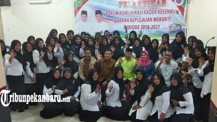 Pengurus Forum Komunikasi Kader Kesehatan Daerah Kepulauan Meranti Resmi Dilantik