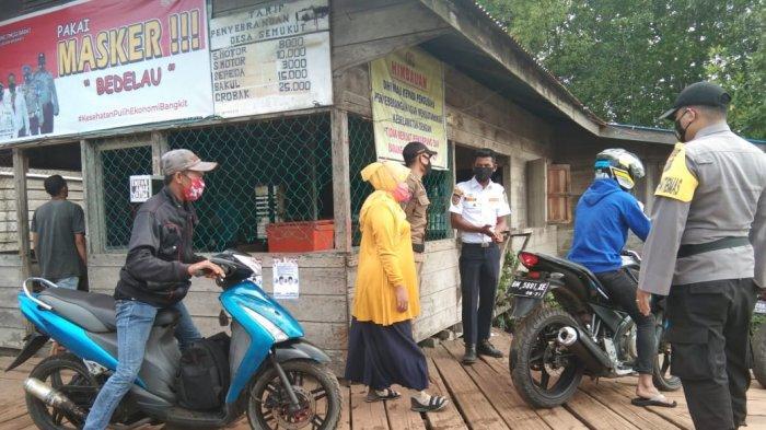 Harus Nyanyi Indonesia Raya dan Ucap Pancasila,Tim Gabungan Jaring Orang Tak Pakai Masker di Meranti
