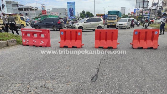 Sejumlah Titik Jalan Ini Masih Disekat Sehubungan Perpanjangan Pengetatan PPKM Mikro Kota Pekanbaru