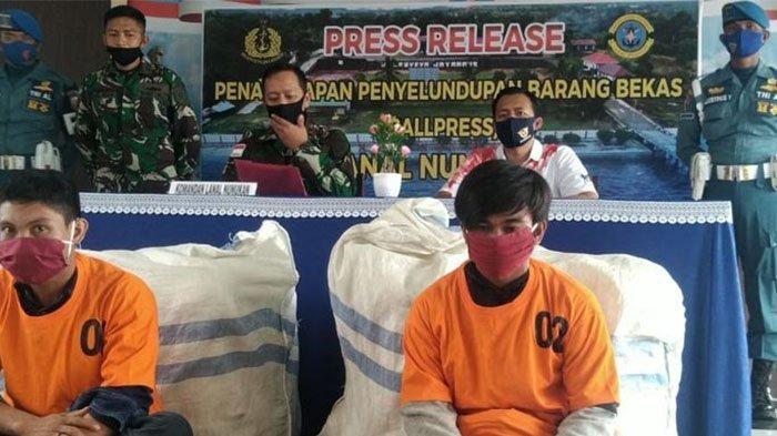 Tiga Kali Tembakan Peringatan untuk Hentikan Laju Kapal Penyeludup Pakaian Bekas asal Malaysia
