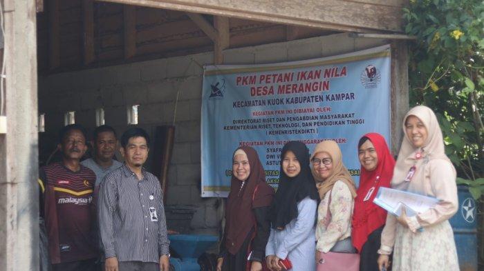 Tim PKM Universitas Pahlawan Tuanku Tambusai Serahkan Mesin Pengolah Pelet Ikan ke UKM Ikan Nila