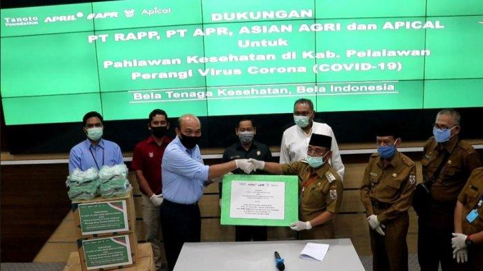 PT RAPP, APR, Asian Agri Serahkan Bantuan APD ke Tim Gugus Tugas Penanggulangan Covid-19 Pelalawan