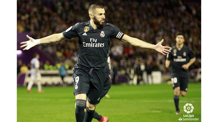 Penyerang Real Madrid, Karim Benzema akan bergabung dengan Timnas Spanyol di Euro 2020