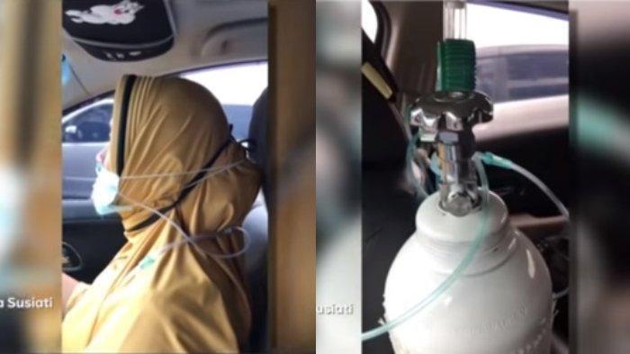 Nyetir Mobil Cari RS dengan Selang Oksigen di Hidung, Pasien Covid-19 Ini Buat Kakaknya Menangis