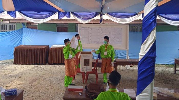 Perhitungan Hasil PSU Inhu, Paslon Ridho Raih Suara Menang di TPS 03 Desa Ringin