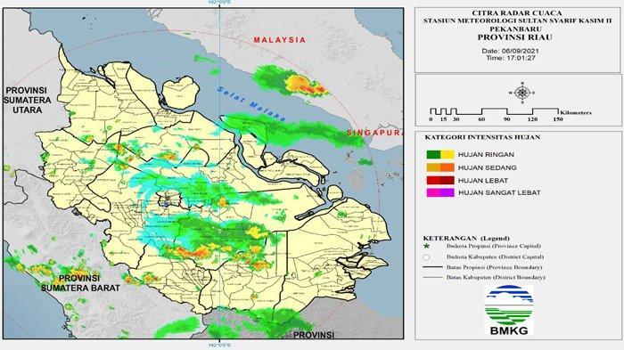 Peringatan Dini Cuaca di Riau dari BMKG Pekanbaru: Hujan Lebat, Angin Kencang & Petir di 7 Kabupaten