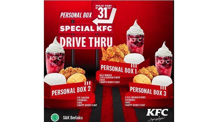 Promo KFC Personal Box Rp 31.818 hingga Promo Kombo Hoki, Cek Daftarnya