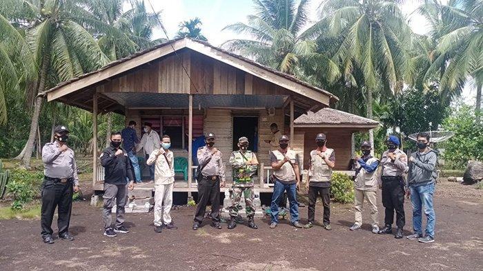 Pengamanan yang dilakukan personil gabungan saat tahapan Pilkada Kepulauan Meranti.