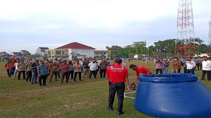Antipasi Karhutla yang Makin Meluas, Ratusan Personel Polda Riau Jalani Pelatihan Pemadaman Karhutla