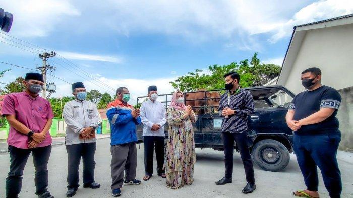 Sambut Idul Adha 1442 H, Pertagas Salurkan Bantuan Hewan Kurban di Area Proyek Rokan