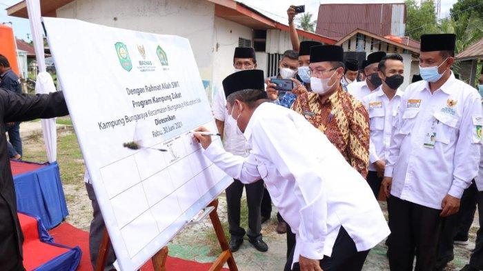 Pertama di Riau, Pemkab Siak Luncurkan Kampung Zakat di Bungaraya