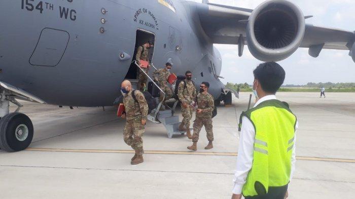 Pesawat F-16 TNI AU-US Pacaf AU Amerika Gelar Latihan Bersama di Lanud Roesmin Nurjadin Pekanbaru