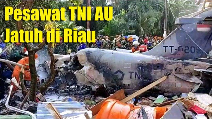 Fakta Pesawat TNI AU Jatuh di Kubang Pekanbaru, Timpa Rumah Warga hingga Kondisi Pilot