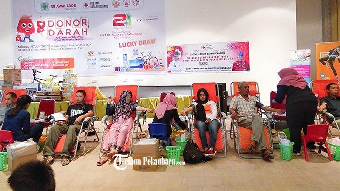 Support Ketersediaan Darah di PMI, Jelang HUT ke 21 RSAB Pekanbaru Gelar Kegiatan Donor Darah