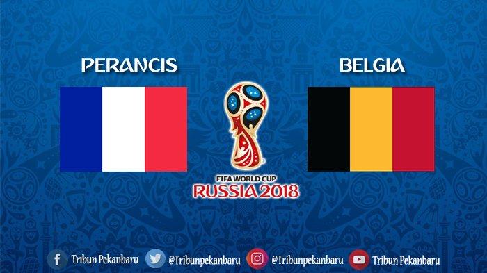 Semifinal Piala Dunia 2018 - Ini Susunan Pemain Perancis vs Belgia Jam 01.00 Wib dan Prediksi Skor