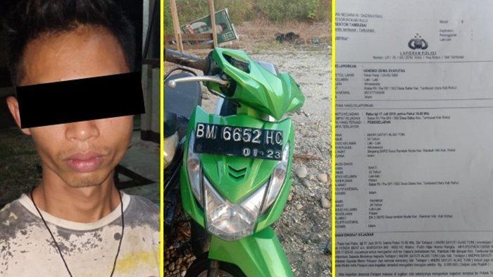 Pinjam Motor Korban Tapi Tak Kembali, AS Ditangkap Polres Rohul Riau Setelah Buron Hampir Sebulan